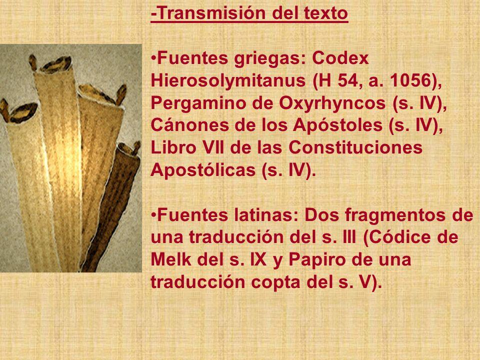 -Transmisión del texto