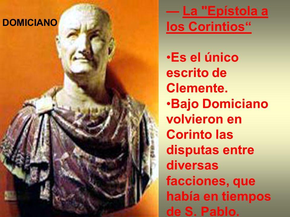 — La Epístola a los Corintios