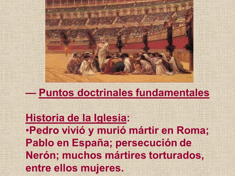 — Puntos doctrinales fundamentales