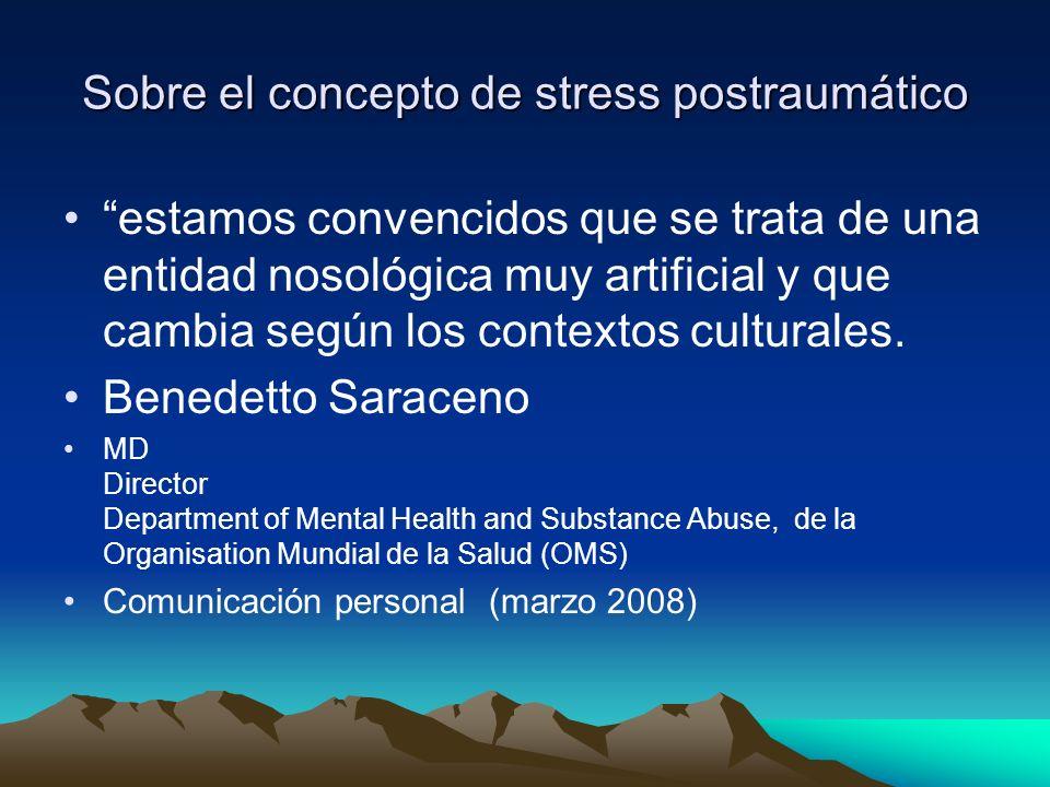 Sobre el concepto de stress postraumático