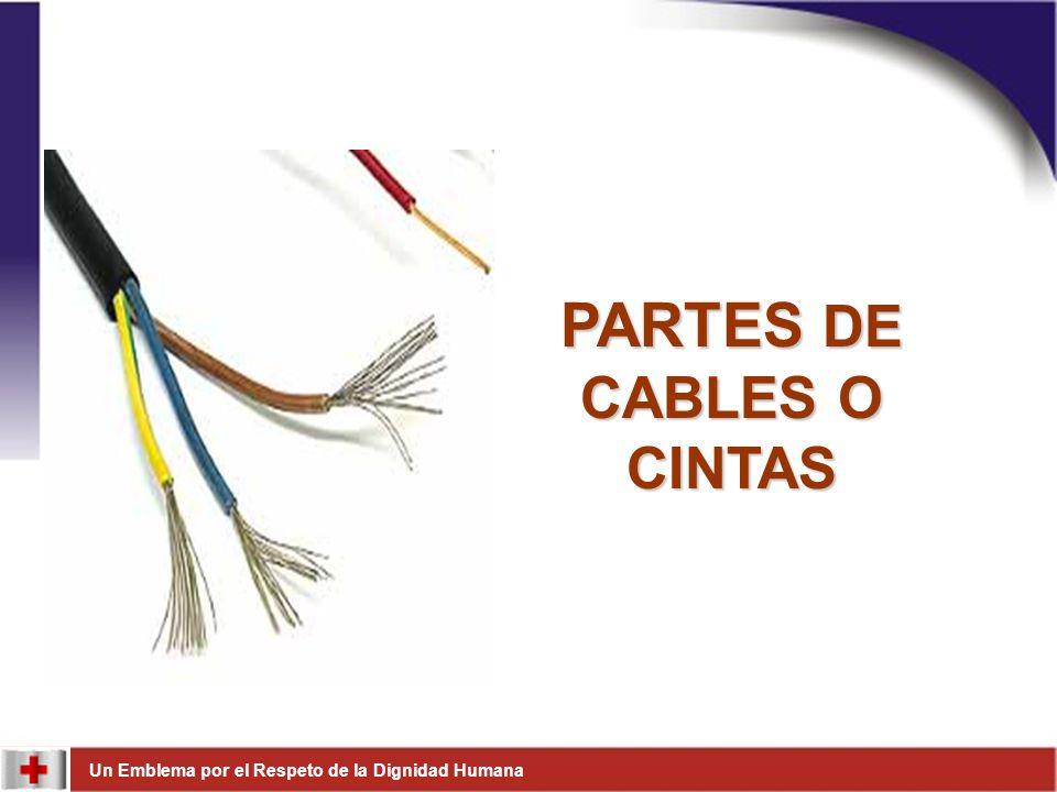 PARTES DE CABLES O CINTAS