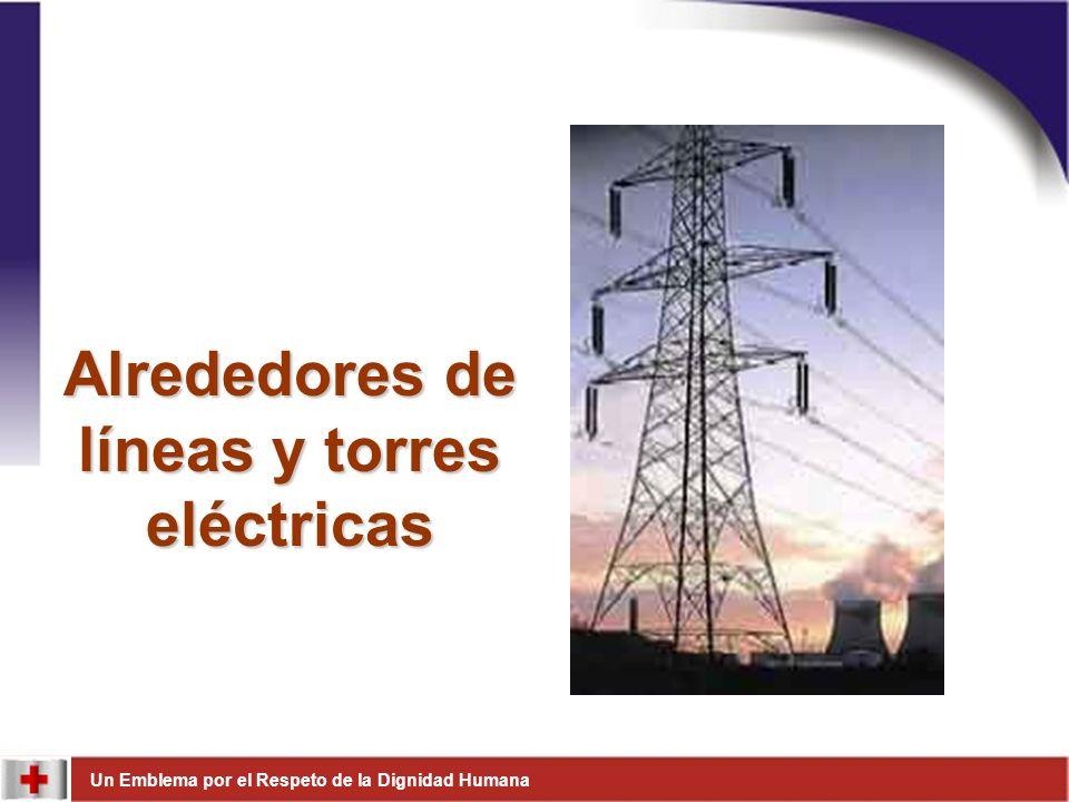 Alrededores de líneas y torres eléctricas