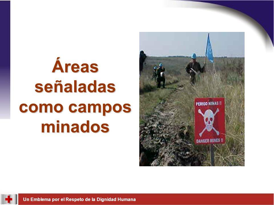 Áreas señaladas como campos minados