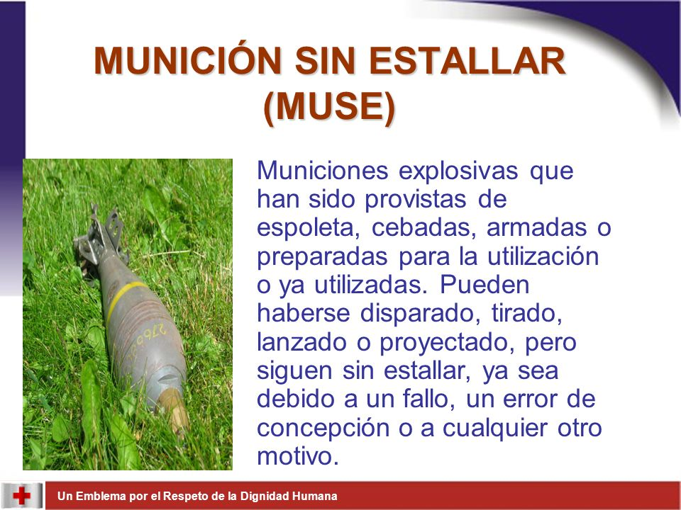 MUNICIÓN SIN ESTALLAR (MUSE)