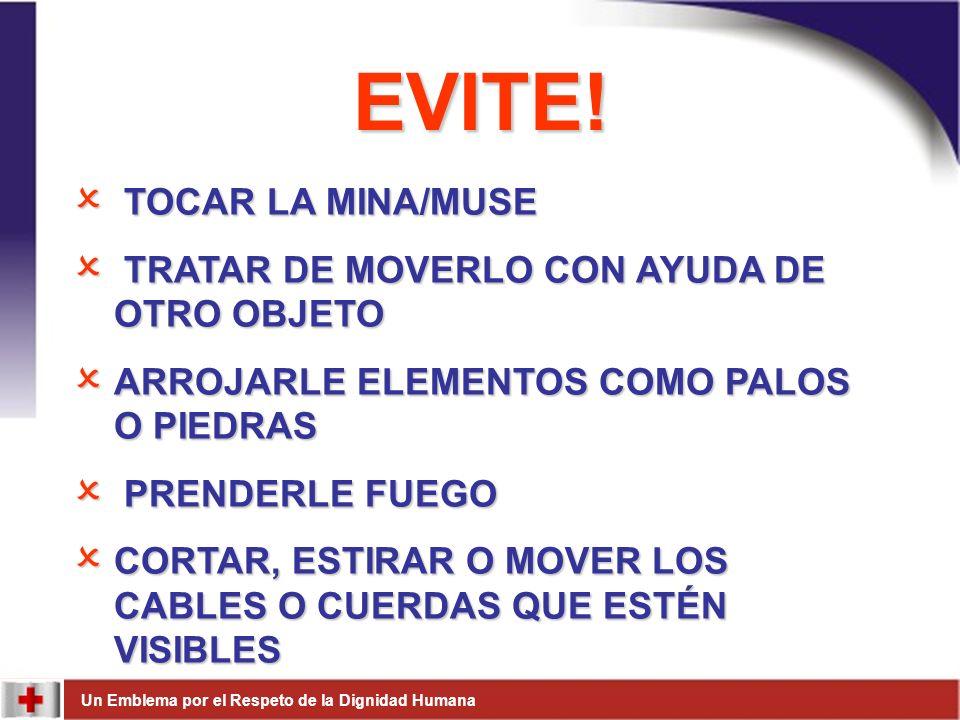 EVITE! TOCAR LA MINA/MUSE TRATAR DE MOVERLO CON AYUDA DE OTRO OBJETO