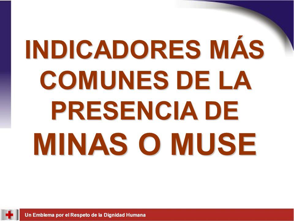 INDICADORES MÁS COMUNES DE LA PRESENCIA DE MINAS O MUSE