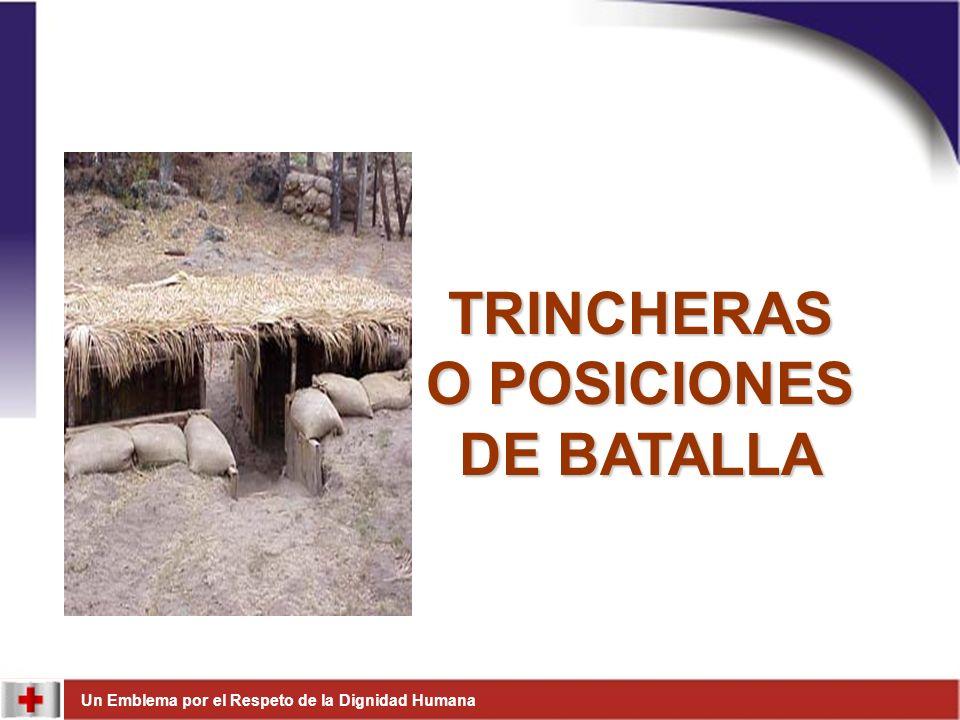 TRINCHERAS O POSICIONES DE BATALLA