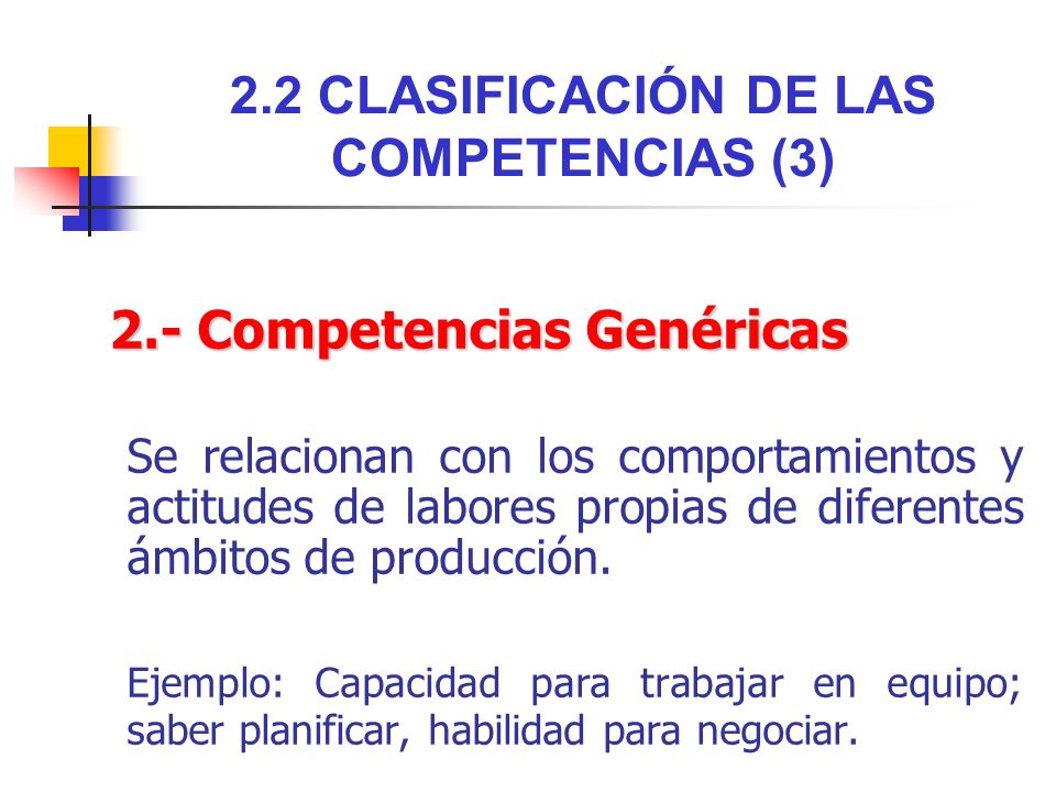 2.2 CLASIFICACIÓN DE LAS COMPETENCIAS (3)