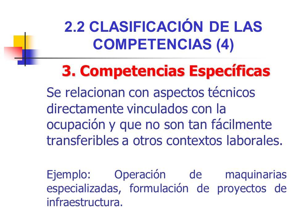 2.2 CLASIFICACIÓN DE LAS COMPETENCIAS (4)
