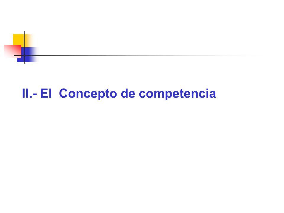 II.- El Concepto de competencia