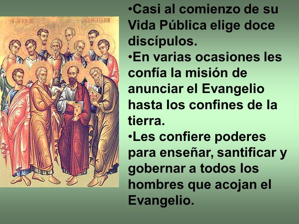 Casi al comienzo de su Vida Pública elige doce discípulos.
