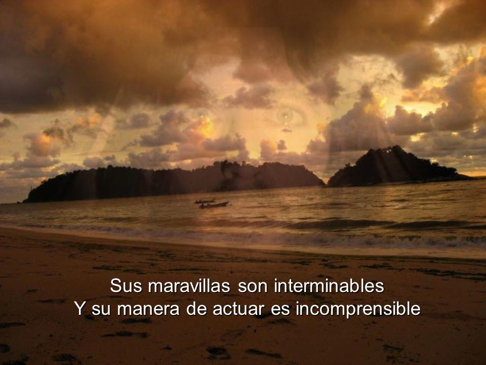Sus maravillas son interminables