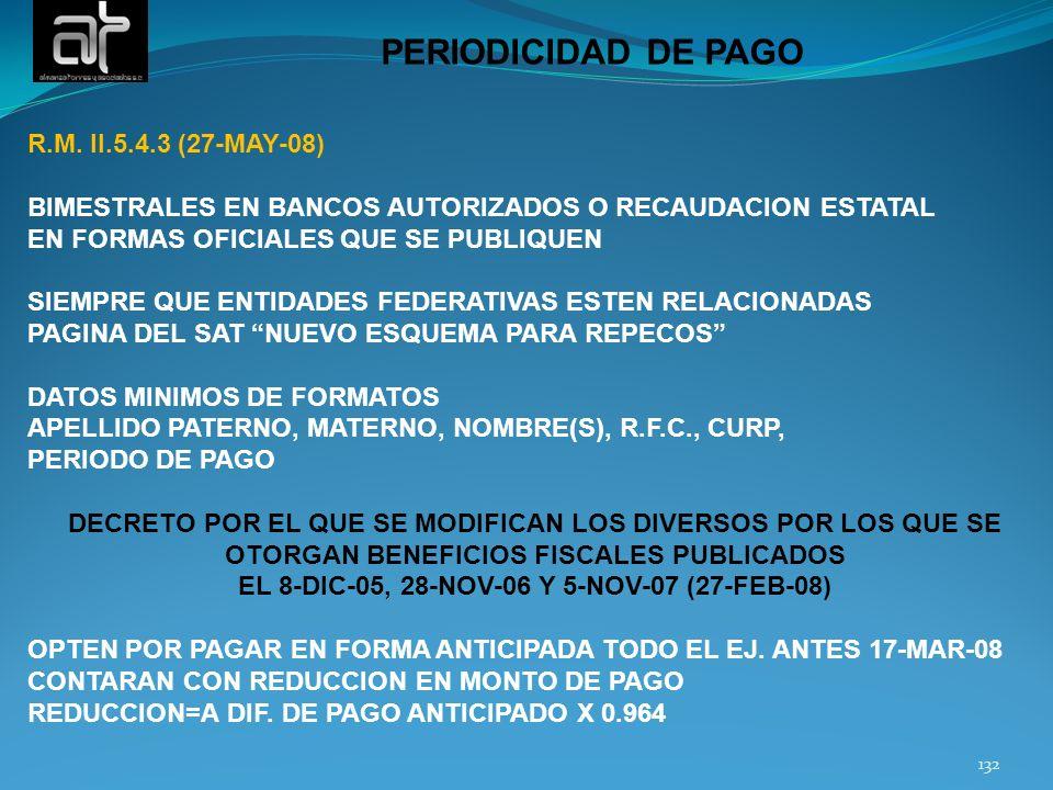 EL 8-DIC-05, 28-NOV-06 Y 5-NOV-07 (27-FEB-08)