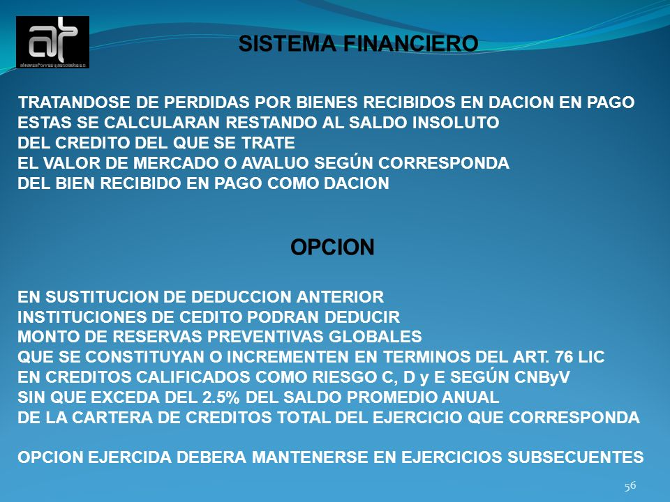 SISTEMA FINANCIERO OPCION