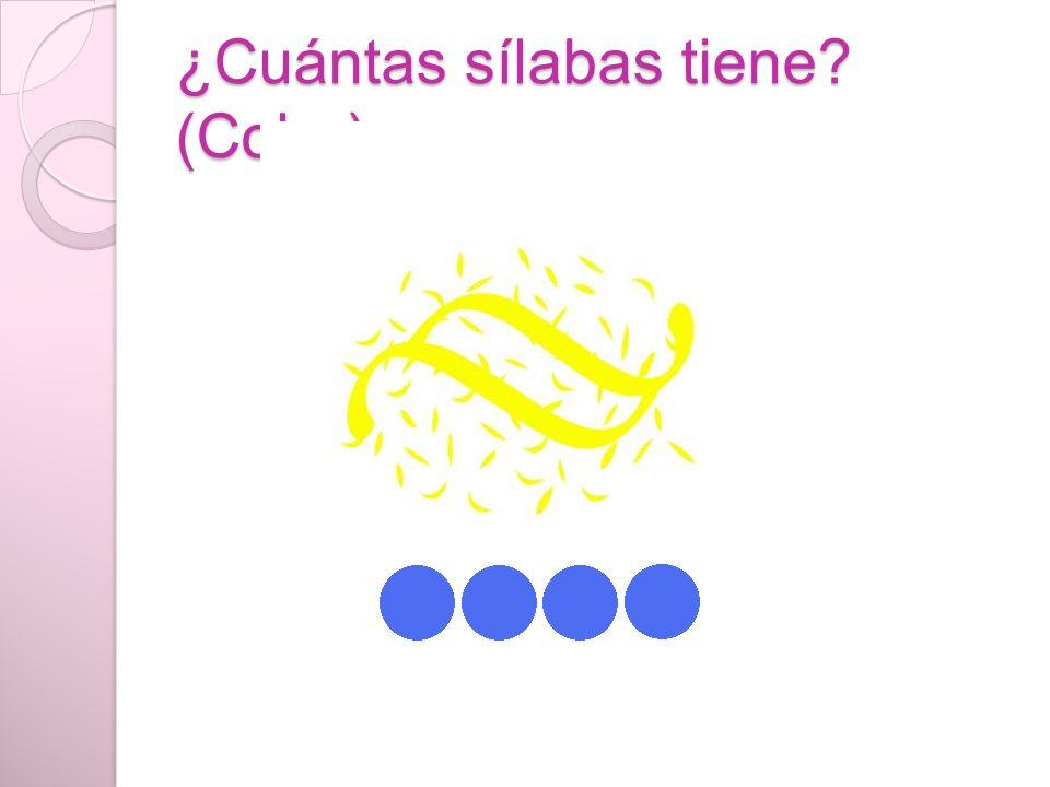 ¿Cuántas sílabas tiene (Color)