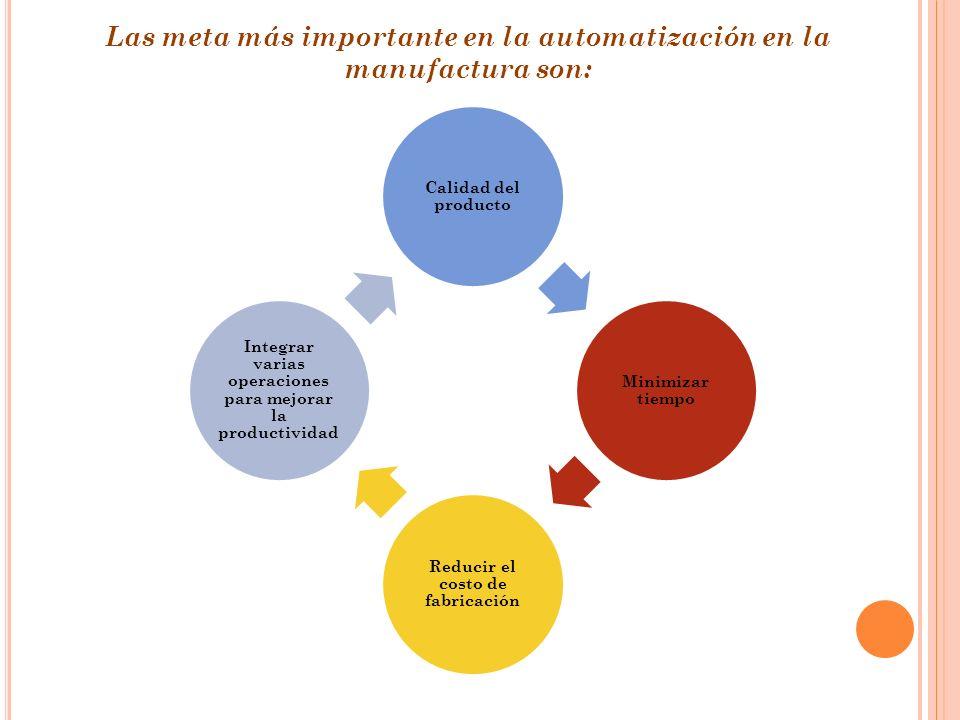 Las meta más importante en la automatización en la manufactura son: