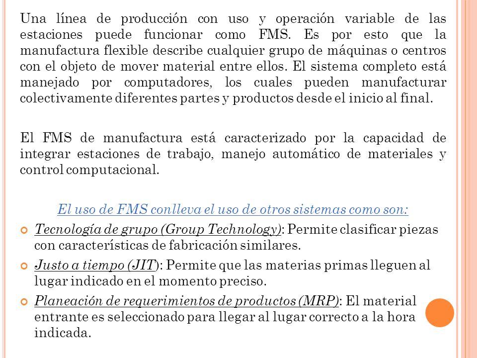 El uso de FMS conlleva el uso de otros sistemas como son: