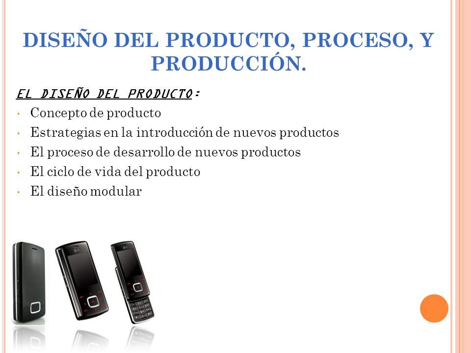 DISEÑO DEL PRODUCTO, PROCESO, Y PRODUCCIÓN.