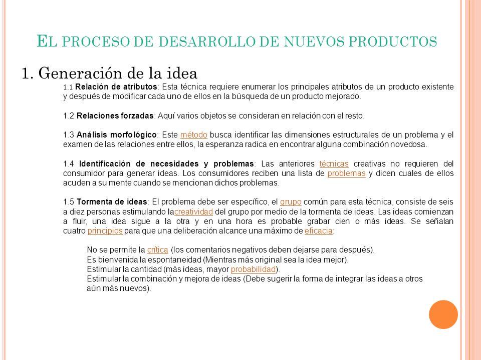 El proceso de desarrollo de nuevos productos