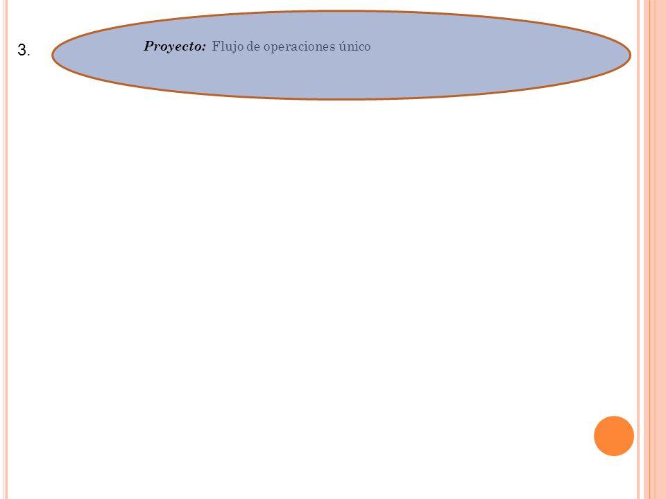 Proyecto: Flujo de operaciones único
