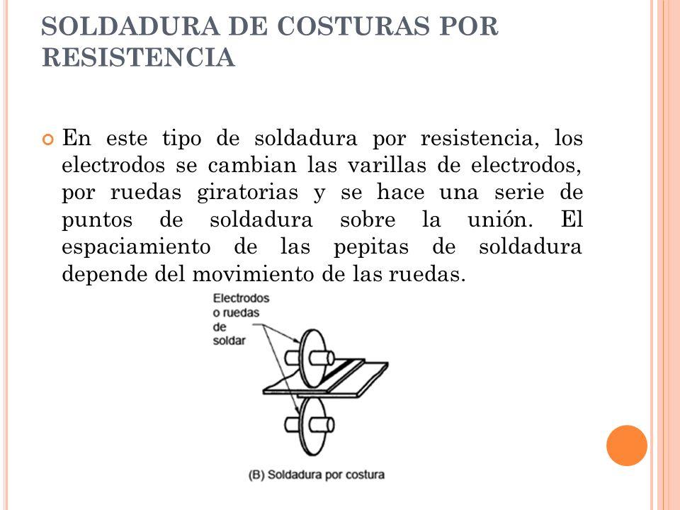 SOLDADURA DE COSTURAS POR RESISTENCIA