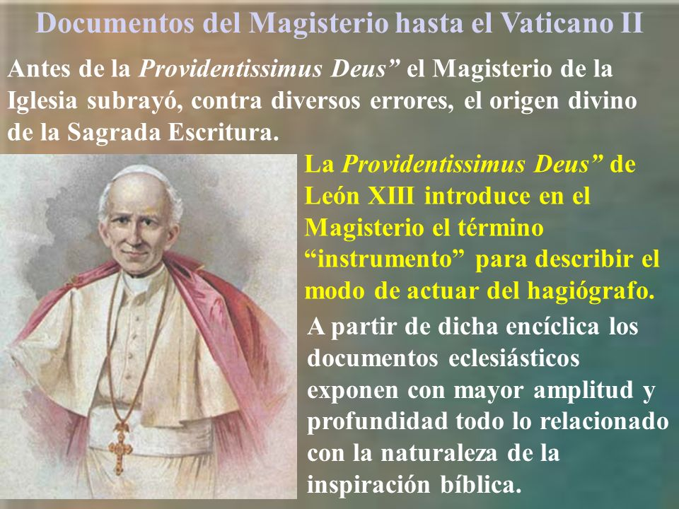 Documentos del Magisterio hasta el Vaticano II