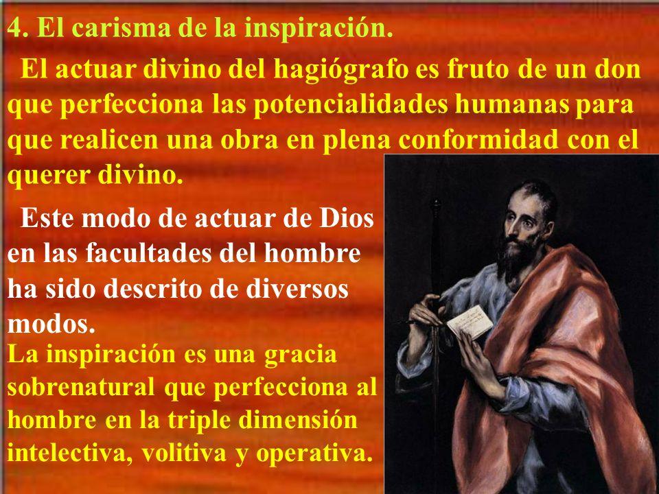 4. El carisma de la inspiración.