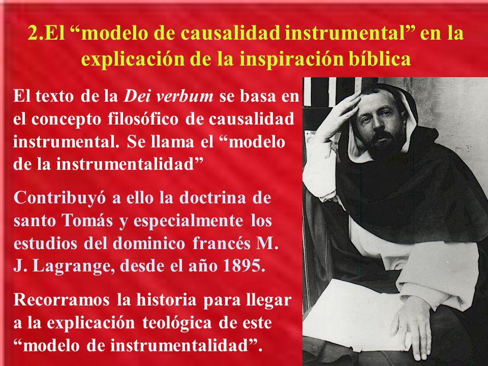 2.El modelo de causalidad instrumental en la explicación de la inspiración bíblica