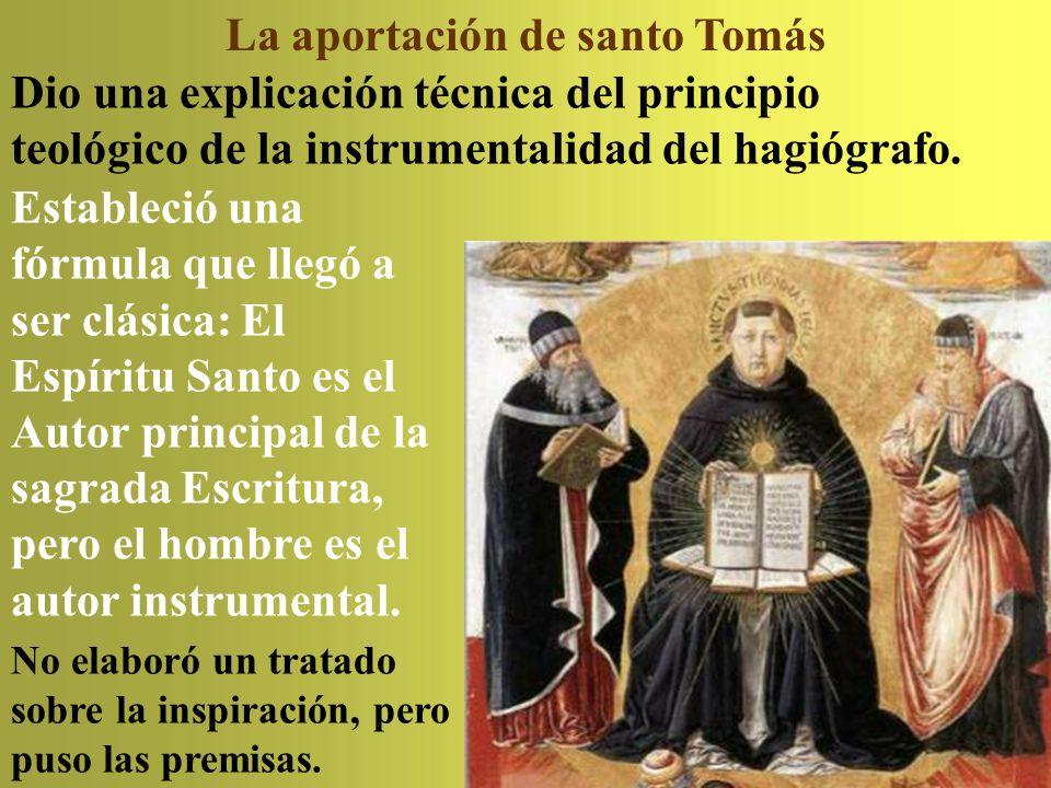 La aportación de santo Tomás