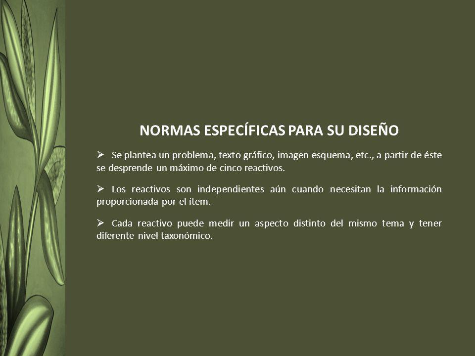 NORMAS ESPECÍFICAS PARA SU DISEÑO