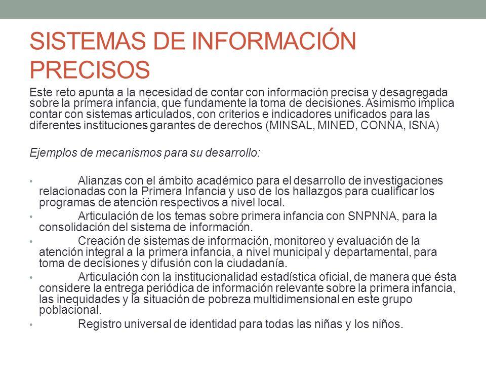 SISTEMAS DE INFORMACIÓN PRECISOS