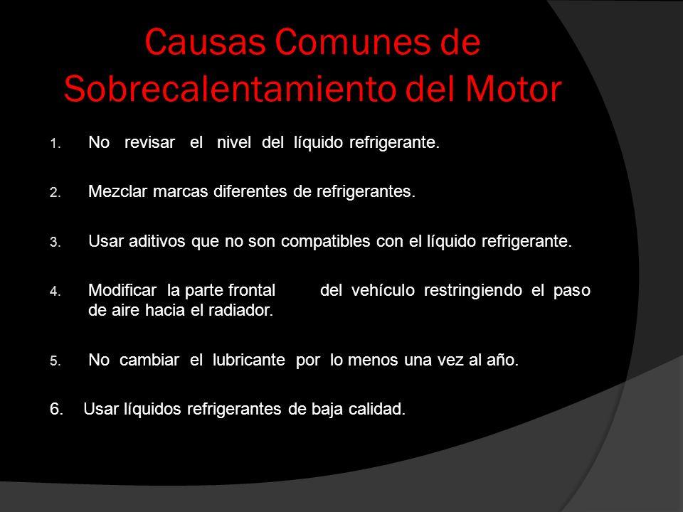 Causas Comunes de Sobrecalentamiento del Motor