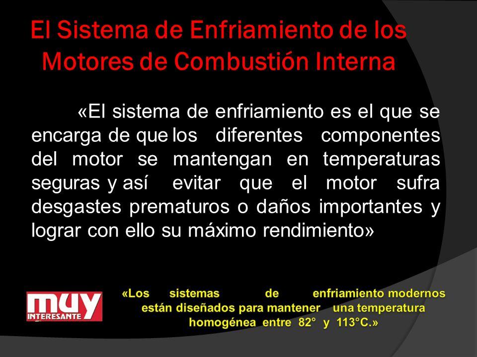 El Sistema de Enfriamiento de los Motores de Combustión Interna