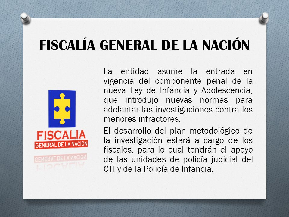 FISCALÍA GENERAL DE LA NACIÓN