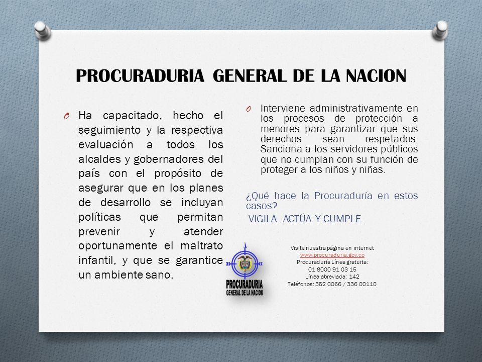 PROCURADURIA GENERAL DE LA NACION