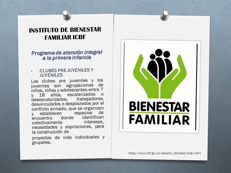 INSTITUTO DE BIENESTAR FAMILIAR ICBF