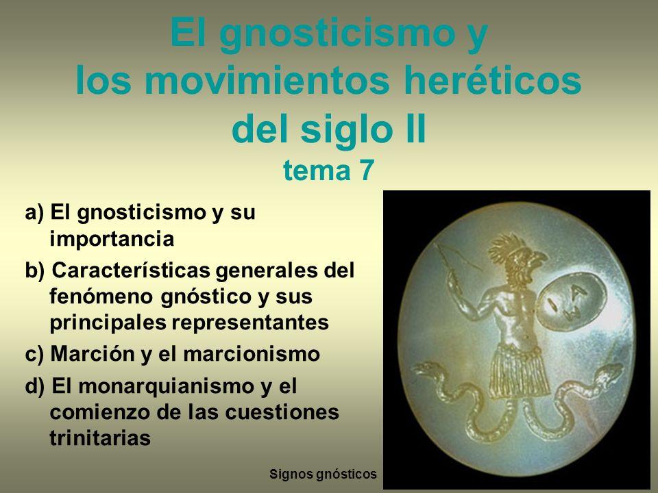 El gnosticismo y los movimientos heréticos del siglo II tema 7
