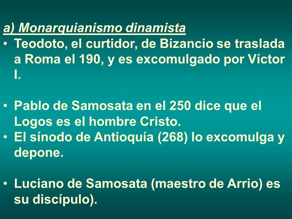 a) Monarquianismo dinamista