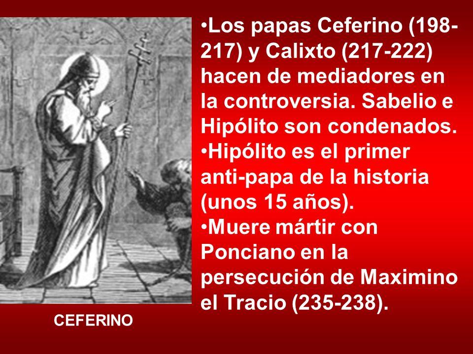 Hipólito es el primer anti-papa de la historia (unos 15 años).