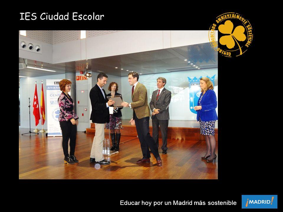 IES Ciudad Escolar Educar hoy por un Madrid más sostenible