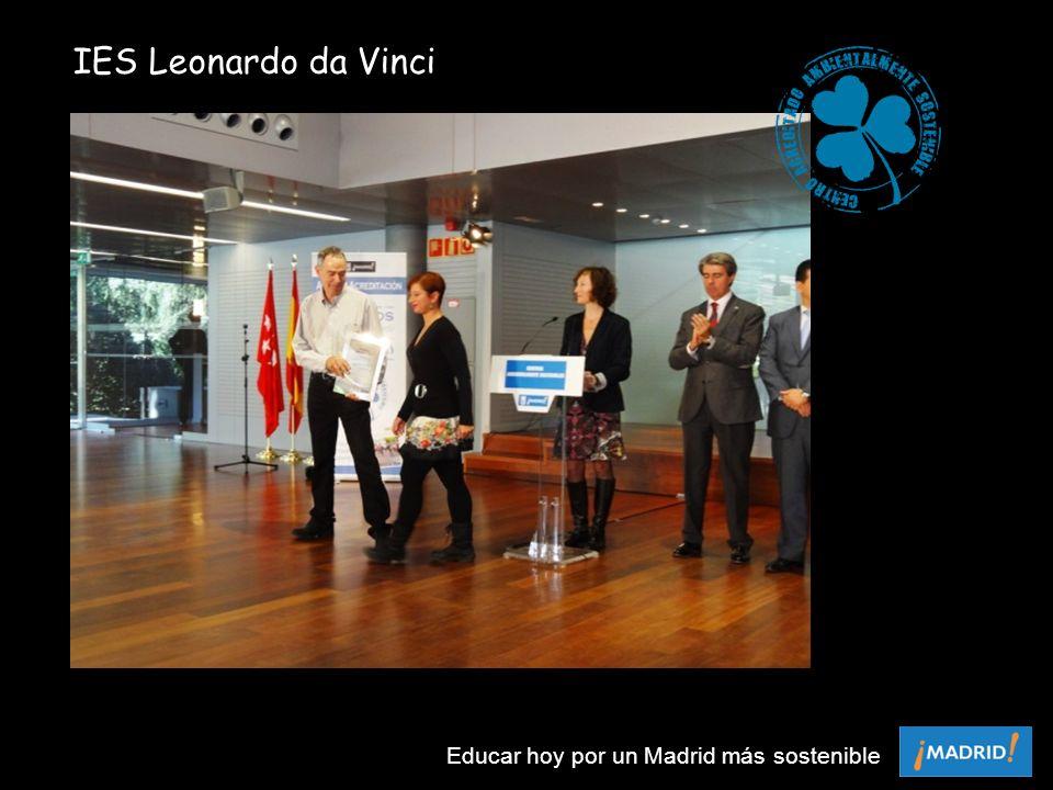 IES Leonardo da Vinci Educar hoy por un Madrid más sostenible