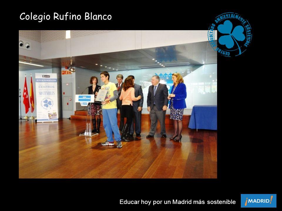 Colegio Rufino Blanco Educar hoy por un Madrid más sostenible
