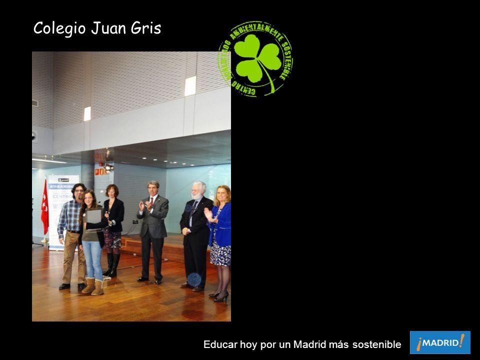 Colegio Juan Gris Educar hoy por un Madrid más sostenible