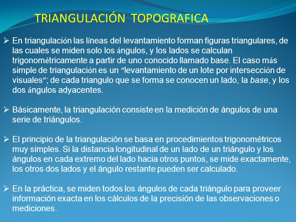 TRIANGULACIÓN TOPOGRAFICA