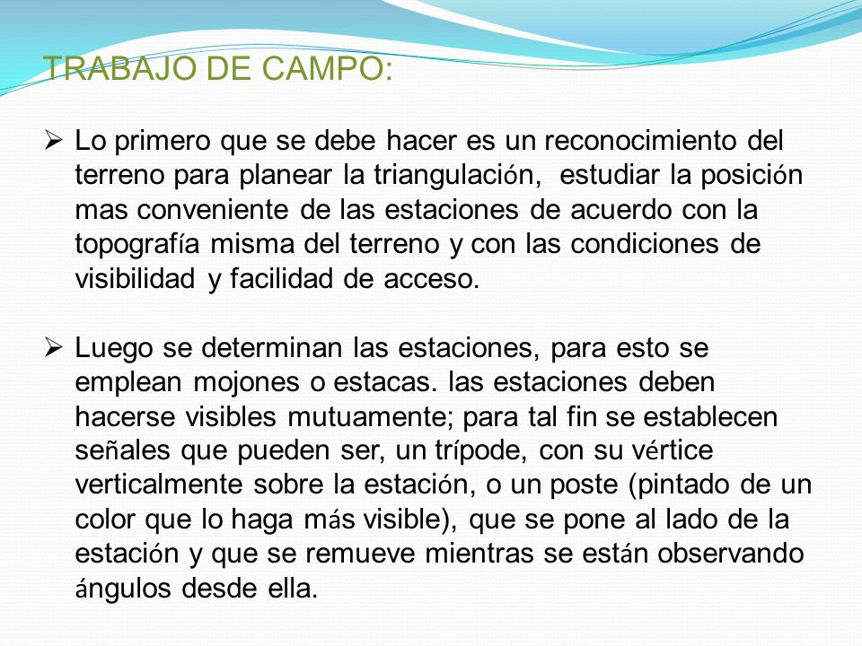 TRABAJO DE CAMPo TRABAJO DE CAMPO:
