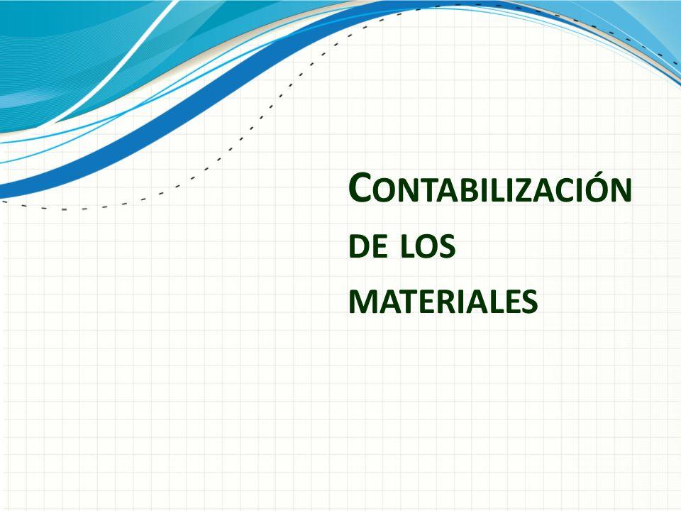 Contabilización de los materiales