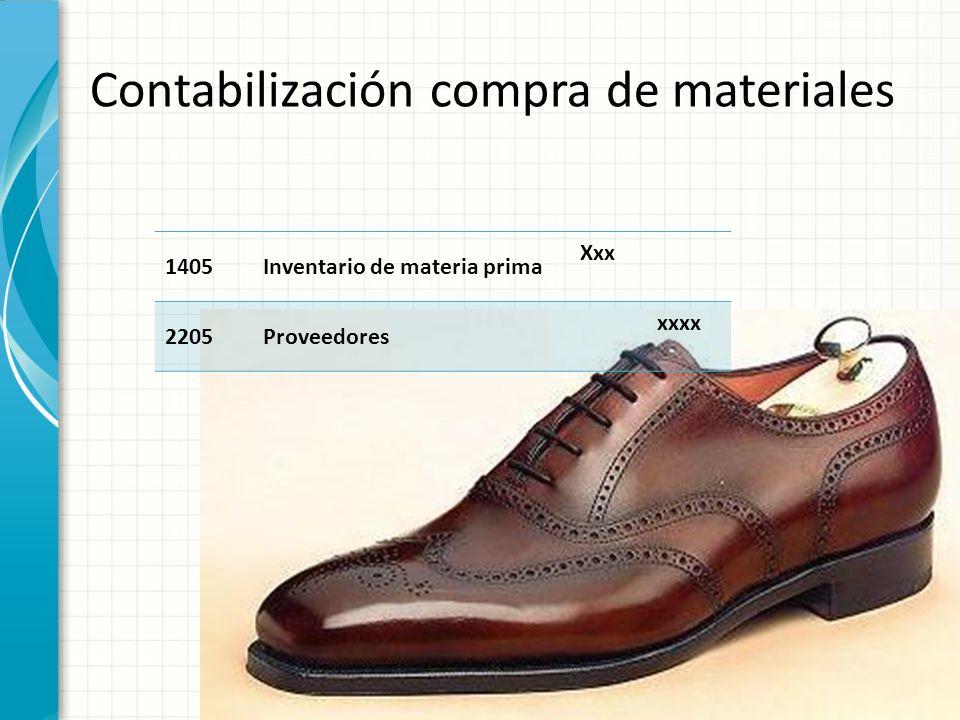 Contabilización compra de materiales
