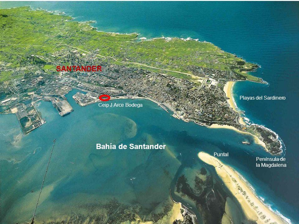 SANTANDER Bahía de Santander Playas del Sardinero Ceip J Arce Bodega