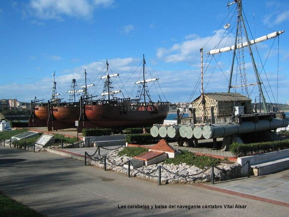 Las carabelas y balsa del navegante cántabro Vital Alsar