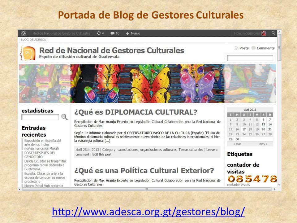 Portada de Blog de Gestores Culturales